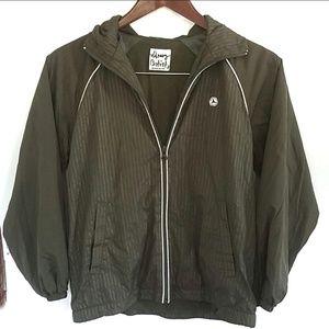 Old Navy windbreaker jacket. green,  M
